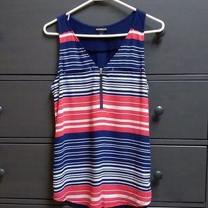 Express women's zip blouse.